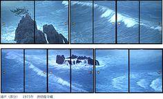 東山魁夷 唐招提寺障壁画より『濤声(部分)』 (1980) 唐招提寺蔵