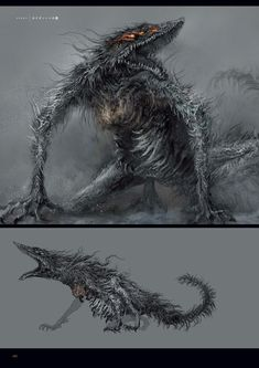 View an image titled 'Sulyvahn's Beast Art' in our Dark Souls III art gallery featuring official character designs, concept art, and promo pictures. Dark Souls 3, Monster Concept Art, Fantasy Monster, Monster Art, Bloodborne Concept Art, Bloodborne Art, Dark Creatures, Fantasy Creatures, Creature Concept Art