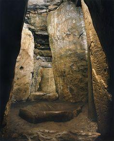 Megalithic sites of Ireland. Dowth interior, Co. Meath, Ireland.