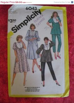 On Sale UnCut 1980's Simplicity Sewing Pattern by EarthToMarrs, $6.40