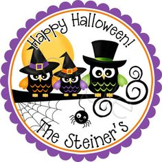 Personalized Halloween Stickers