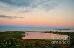 Sunset Over Saint Martin Photograph  - Sunset Over Saint Martin Fine Art Print St.Martin #sunset  over #beach and lake. #photography by #zinazinchik