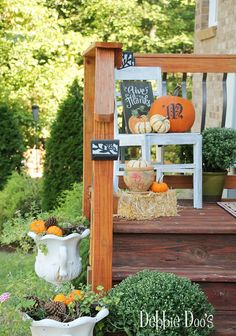 Thrifty fall decorating ideas outdoors plus, 7 more thrifty makeovers.