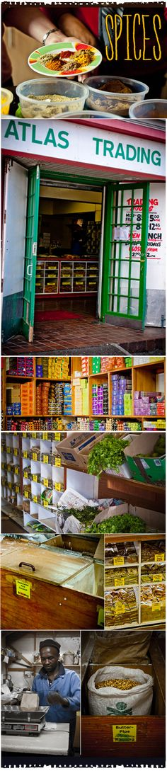 Bo Kaap spice shop: fabulous place to get your Malay spices! Went there after my cooking class to pick up all of the spices I needed! Easy to pack & bring the flavor back with me! The Purple Calabash South African Holidays, Spice Shop, Cooking Classes, Cape Town, Spices, Bring It On, Adventure, Curries, Purple
