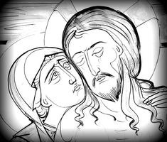 Jesus E Maria, Religious Icons, Art Icon, Orthodox Icons, Mexican Art, Drawing Lessons, Pyrography, Line Drawing, Painting Inspiration