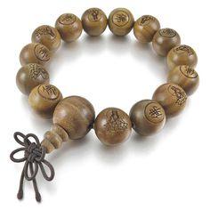 Men,Women's 14mm Wood Bracelet Link Wrist Tibetan Buddhist Green Sandalwood Beads Prayer Mala Chinese knot Elastic *** LEARN MORE @ http://www.finejewelry4u.com/jewelry100/13530/?143