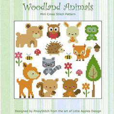 Woodland Animals Collection Cross Stitch PDF Chart by PinoyStitch