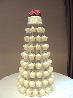 layered cupcakes wedding cake