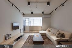 北歐風 蟲點子創意設計 鄭明輝 (192437)-設計家 Searchome Condo Living Room, Living Room Interior, Home Interior Design, Living Spaces, Track Lights Living Room, Living Room Lighting, Beautiful Home Designs, Modern House Design, Living Room Designs