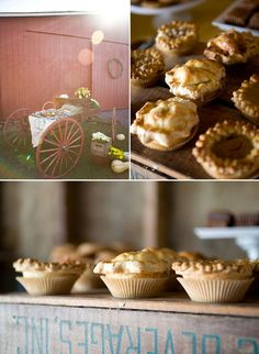 country ~ wedding pies