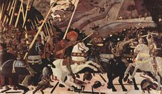 'Bataille de San Romano (Battaglia di San Romano)', huile de Paolo Uccello (1397-1475, Italy)