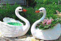 Garden Sculpture, Bird, Outdoor Decor, Animals, Home Decor, Swans, House, Fonts, Plant Pots