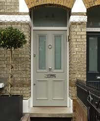 Front Door Paint Colors - Want a quick makeover? Paint your front door a different color. Here a pretty front door color ideas to improve your home's curb appeal and add more style! Front Door Porch, Wooden Front Doors, Painted Front Doors, House Front Door, The Doors, Up House, Entry Doors, Windows And Doors, Front Entry