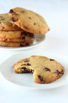 no Chocolate Chip Cookies, Chocolate Chips, Biscotti, Goodies, Baking, Desserts, Pastries, Food, Breads