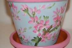 Painted Flower Pots | Hand Painted Clay Flower Pots