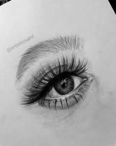 New eye drawing,, hope you like it ☁  Comment what you think ❤