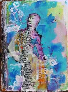 Creative Art Journals | Creative Therapy art journal pages... - ponderings