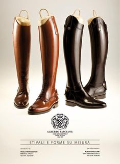 Alberto Fasciani Horse Riding Boots  Entirely hand made in Italy and I just got this pair in black custom fit :D