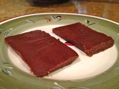 Chewy Protein Bar Recipe. 3 ingredients.  1 cup whey protein 2 tbsp peanut butter 2 tbsp coconut milk