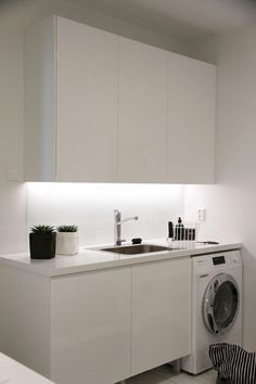 "Acquire fantastic ideas on ""laundry room storage diy"". They are accessible for you on our web site. Laundry Nook, Small Laundry Rooms, Laundry Room Storage, Laundry In Bathroom, Minimalist Small Bathrooms, Modern Minimalist, Small Bathroom Renovations, Bathroom Designs, Bathroom Ideas"