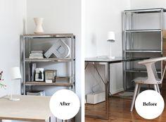 RAW design blog: DIY: PLYWOOD TABLE & SHELF