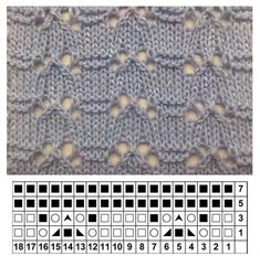 This Pin was discovered by Liv Lace Knitting Stitches, Lace Knitting Patterns, Knitting Blogs, Knitting Charts, Easy Knitting, Knitting Designs, Knitting Socks, Stitch Patterns, Diy Crafts Crochet