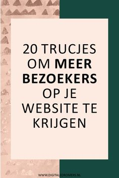 Wil je je blog of on