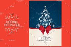 Christmas and New Year greeting card by Restaurant Menu & Logos on @creativemarket