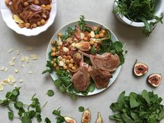 My Lamb, Chickpea and Fig Salad is the ultimate winter salad. Healthy Lamb Recipes, Healthy Cooking, Healthy Eating, Cooking Recipes, Healthy Lunches, Healthy Food, Madeleine Shaw, Fig Salad, Winter Salad