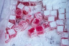 Red Turkish Delight Turkish Delight, Raspberry, Fruit, Red, How To Make, Raspberries