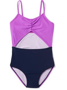 Colorblock Cut-Out One-Piece for Girls