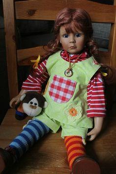 Пеппи Длинный Чулок (Bettina Feigenspan-Hirsch для Zapf) / Коллекционные куклы (винил) / Шопик. Продать купить куклу / Бэйбики. Куклы фото. Одежда для кукол