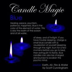Candles:  #Candle Magic ~ Blue.