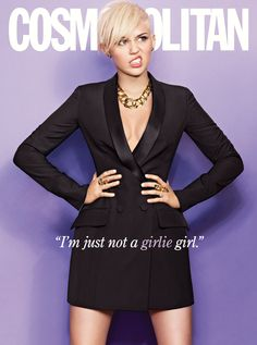 """I'm just not a girlie girl."" -Miley Cyrus #quotes"