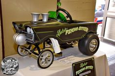 Mighty cool 'gasser' pedal car.