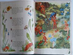A Day In Fairy Land Giant Story & Picture Vintage Story and Picture Book Fairy Glen, Landing, Childrens Books, Illustrators, Folk, Childhood, My Favorite Things, Day, Fairies