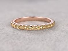 Peridot Wedding Rings For Her 14k Rose Gold Full Eternity Band Annivery Ring