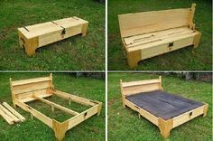 Bed in a box! What a wonderful idea! Plans available at http://3dwoodworkingplans.com/2013/12/25/king-bed-in-a-box-098/