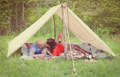Camping themed engagement shoot: www.HautePinkPhotography.com