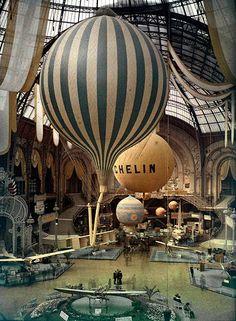 mimbeau:  Paris World Fair at the Grand Palais Paris 1909 autochrome © Léon Gimpel / Collection Société française de photographie (SFP)