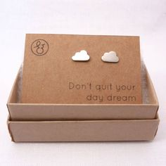 Cloud Silver Stud Earrings aaaaaaaaahhhhhh! They're so cute! :) More