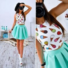 Fashion Boho Dress Women 2017 Summer Beach Sleeveless Casual Dresses Party Short Mini Dress Two Piece Women Clothes Fit N Flare Dress, Colorful Fashion, Boho Fashion, Summer Dresses 2017, 2017 Summer, Dress Summer, Bohemian Mode, Office Fashion Women, Summer Dresses