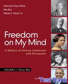 Advanced accounting 12th edition fischer test bank free download test bank for freedom on my mind volume 2 a history of african americans with documents fandeluxe Gallery