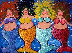 """""""Chubby Mermaids"""" by Renie Britenbucher"""