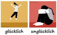 glücklich_unglücklich_Adjektive_Deutsch_deutschlernerblog