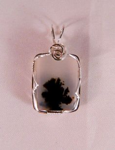 Natural Montana Dendritic Agate Wire Wrapped in by FusedGlassRocks, $45.00