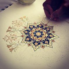 """Working on my student's work  #workshop #dilarayarcı #artwork #tezhip"""