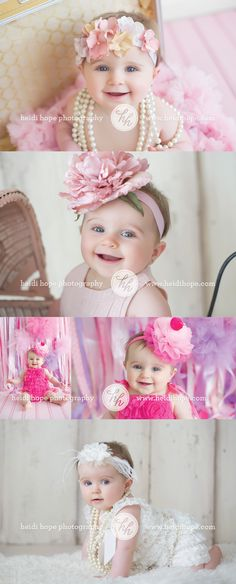 8 month old studio portraits with natural light by Heidi Hope Photography #studio #baby #8months