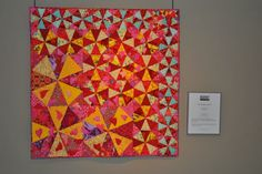 "My Kaleidoscope by artist Chiba Keiko of Japan is part of the ""Distortion"" exhibit at The National Quilt Museum through June 24, 2014.  www.quiltmuseum.org  #nationalquiltmuseum"