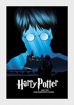 Pedra Filosofal - Harry Potter - Livros   Posters Minimalistas